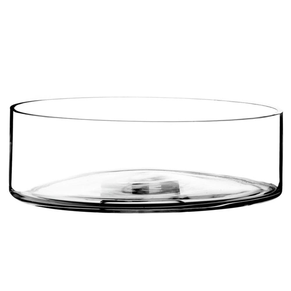 Large Straight Edge Glass Bowl