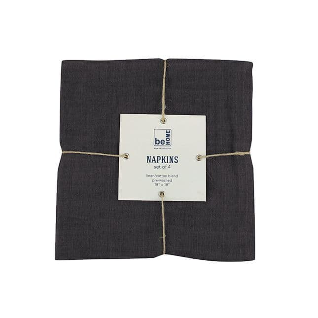 Linen Napkins - Set of 4 - Indigo or Black