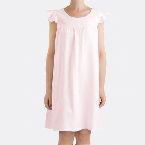 Linen Sleepwear - Night Dress - 2 Colours Available