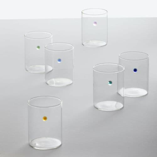 Milanese Glass - Dot Glasses - Set of 6