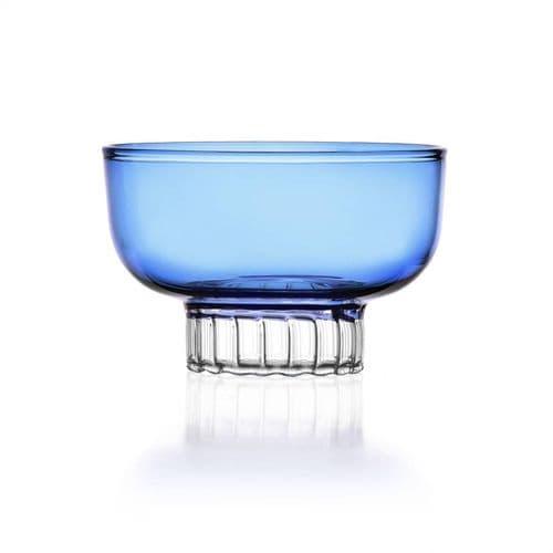 Milanese Glass - Pillar Bowl - Blue