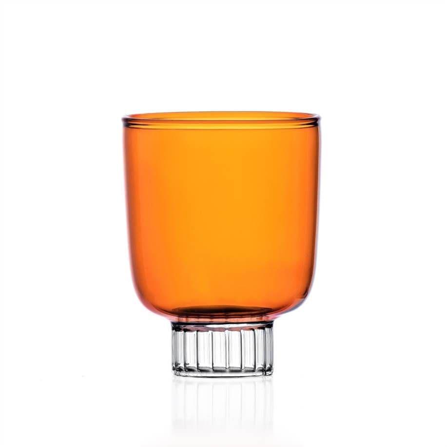 Milanese Glass - Pillar Drinking Glass - Amber