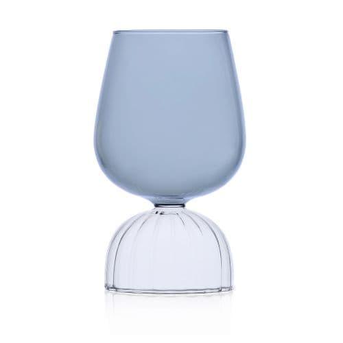Milanese Glass - Skirt Glass - Wine Glass - Smoke