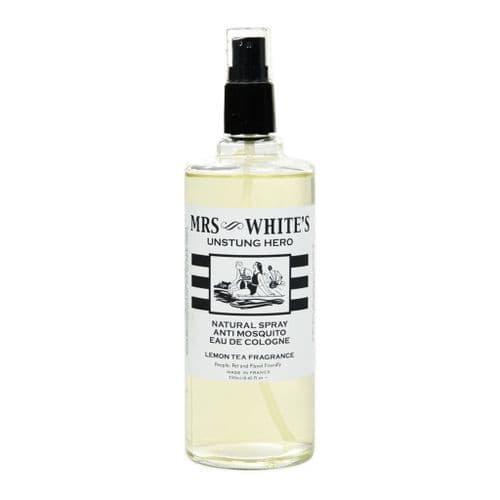 Mrs White's Unstung Hero (EdC) Anti Mosquito Eau de Cologne 250ml - Glass Bottle