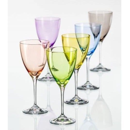 Rainbow Wine Glasses - Set of 6