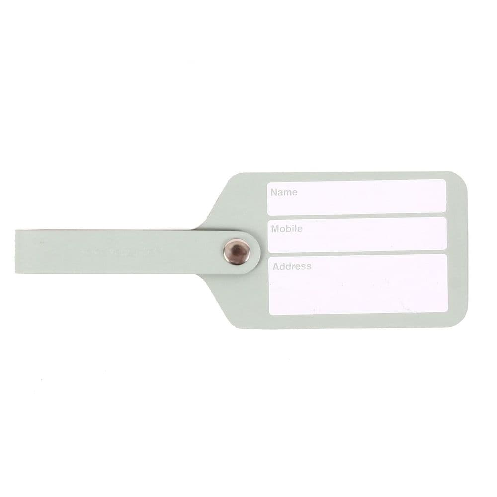 Recycled Leather - Luggage Tag - Mint