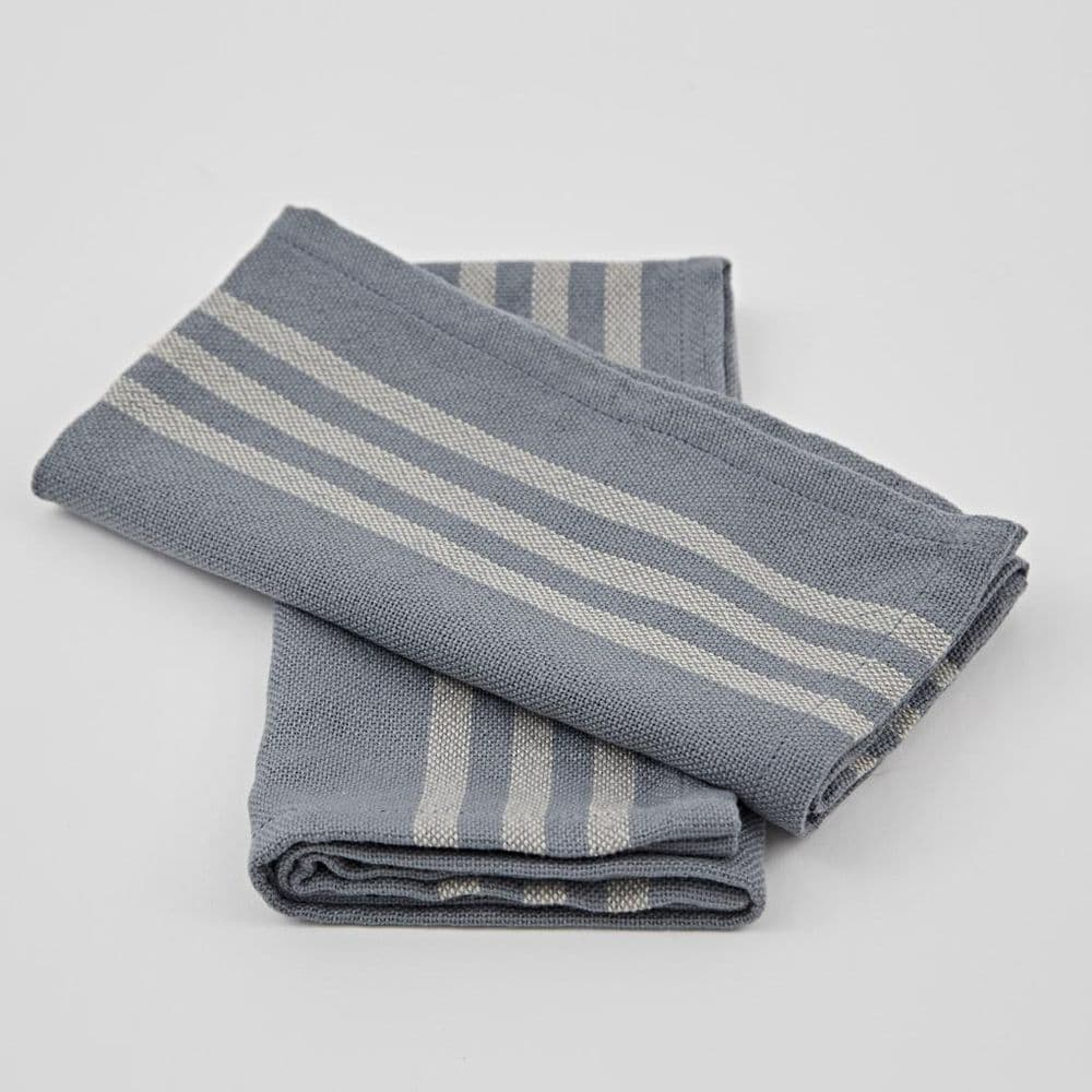 Recycled P.E.T Bottle Linen - Napkins - Set of 4 - Blue or Grey