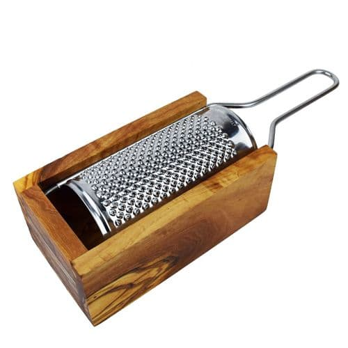 Rustic Olive Wood - Cheese Grater With Box - 2 Sizes Available