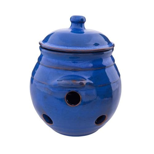 Rustic Spanish Garlic Jar With Lid - Various Colours Available