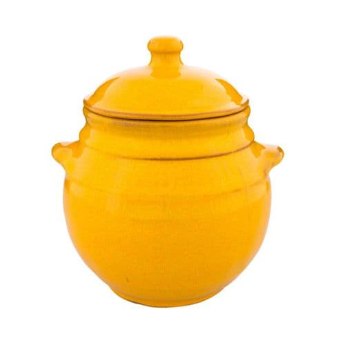 Rustic Spanish Storage Jar With Lid - Various Colours Available