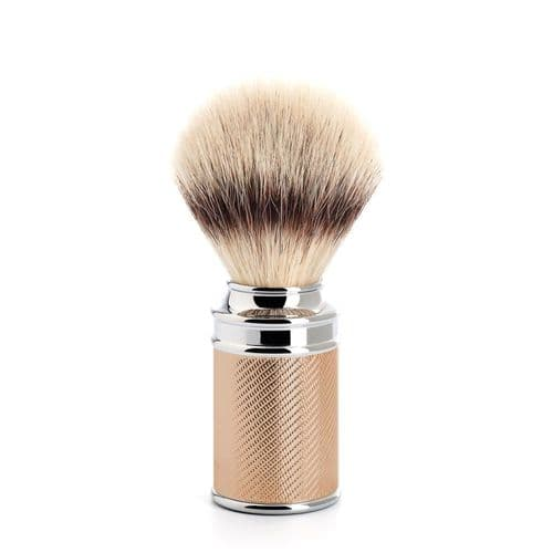 Shaving Brush - Silver Tip Fibre - Rose Gold