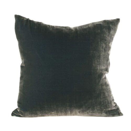 Silk Velvet & Linen Cushion
