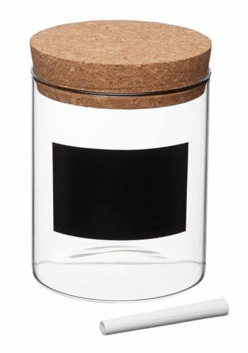 Storage Jar With Cork Lid, Label & Chalk - Various Sizes Available