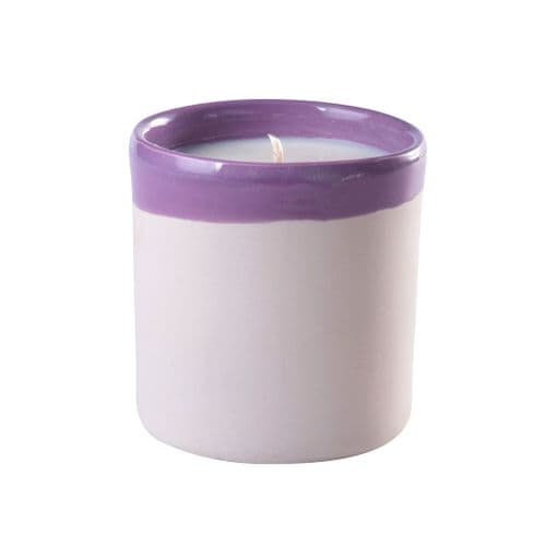Waks - Scented Candle In Clay Pot - Purple - Hyacinth