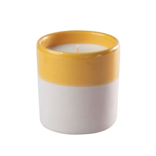 Waks - Scented Candle In Clay Pot - Yellow - Citron