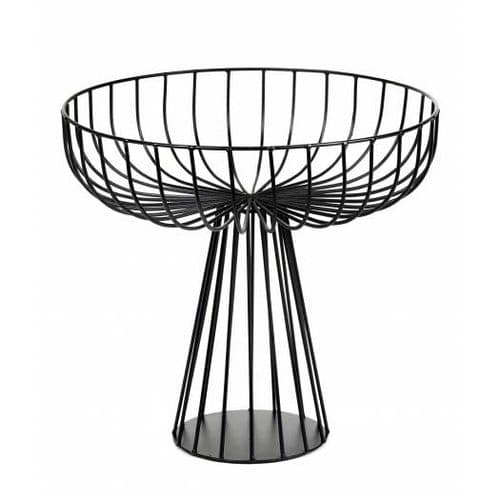 Wire Fruit Basket- Elevated - Black