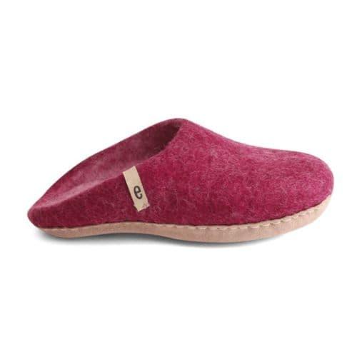 Women's Wool Slippers - Cerise