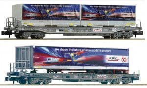 Fleischmann 845321 N Gauge HUPAC Standard Pocket Wagon Set (2)