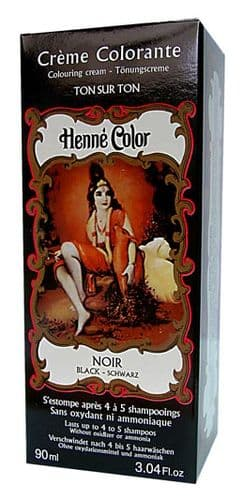 Black Henne Henna Liquid Hair Dye Colouring Cream