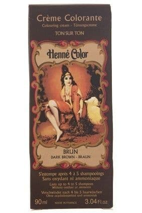Dark Brown Henne Henna Liquid Hair Dye Colouring Cream | World's End Natural Products
