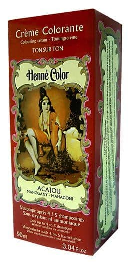 Mahogany Henne Henna Liquid Hair Dye Colouring Cream
