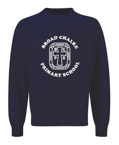 Broad Chalke Primary School Navy Sweatshirt