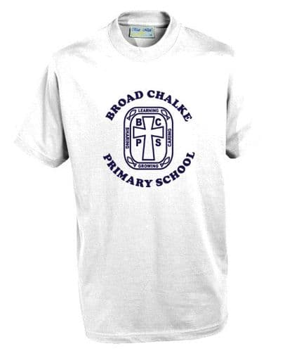 Broad Chalke Primary School White P.E. T-Shirt