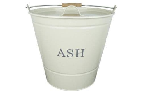 Ash Bucket with Lid (cream) - 1630349