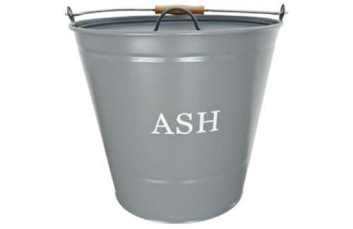 Ash bucket with lid (grey) - 1630347