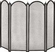 Dynasty 4 panel firescreen in black
