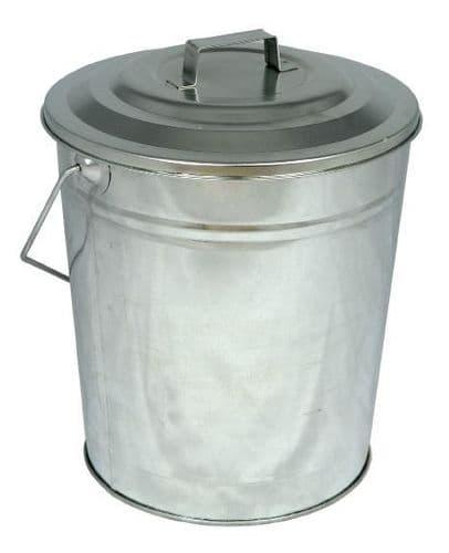 Galvanised coal tub with lid DEV 470