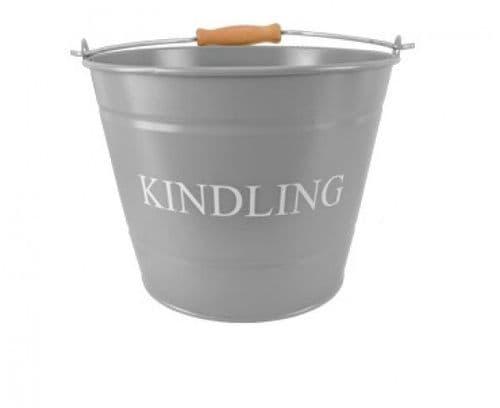 Manor Kindling Bucket (Large Grey) - 1630346