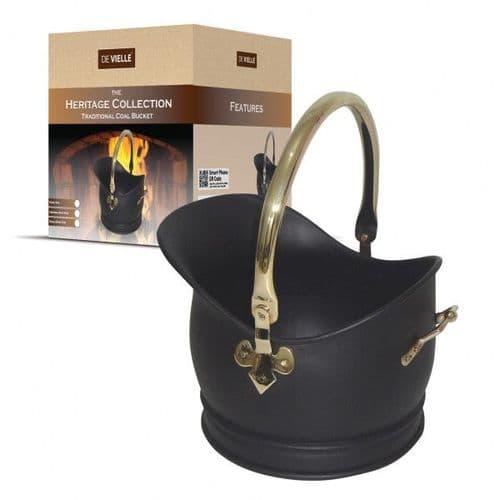 Medium Brass Deville Heritage traditional coal bucket