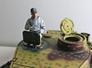Asiatam German tank loader figure Winter uniform 1/16 scale