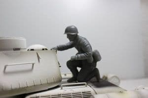 Asiatam Russian tank rider figure 1/16 scale