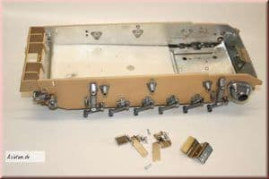 Taigen lower hull with metal chassis for Heng Long 1/16 scale Panzer III / Stug III