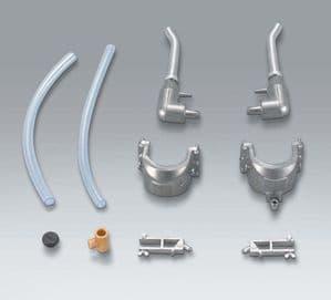 Taigen metal exhausts for Heng Long King Tiger
