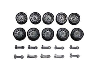 Taigen metal road wheels and suspension arms for Heng Long T34
