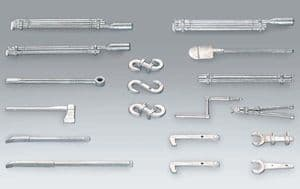 Taigen metal tool and accessories set for Panzer IV