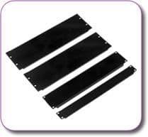 "2U 19"" Rack Mount Blank Panel Black Powder Coated Steel"