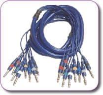 3 metres STUDIOSNAKE 8 way Mono jack plugs to Mono jack plugs.