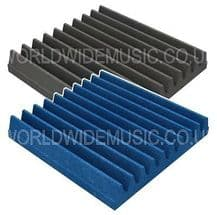 30 X 30 X 5cm Foam Acoustic Tiles (Pack of 16 Tiles) - Choice of Blue or Grey