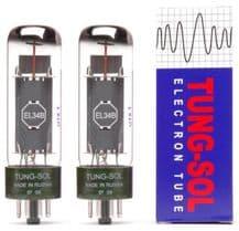 A Matched pair of Tung-Sol EL34B Power Vacuum Tubes / Valves