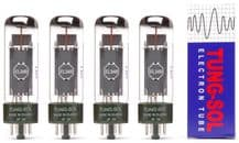 A Matched set of four (4) Tung-Sol EL34B Power Vacuum Tubes / Valves