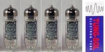 A Matched set of four (4) Tung-Sol EL84TS 6BQ6 Power Vacuum Tubes / Valves