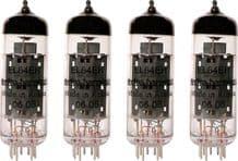 A Matched set of FOUR Electro Harmonix EL84 Power Vacuum Tubes / Valves