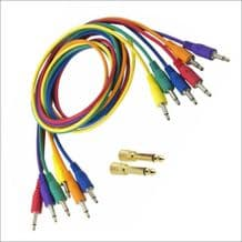 A Pack of Six Korg 3.5mm Mono Patch cables 75cm long Ideal for modular analogue synths