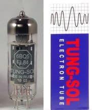 A single (1) Tung-Sol EL84TS 6BQ6 Power Vacuum Tube / Valve