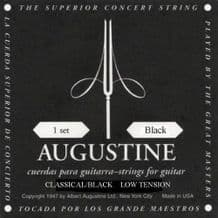 AUGUSTINE CLASSIC BLACK LOW TENSION CLASSICAL GUITAR STRINGS