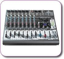 BEHRINGER XENYX 1222FX MIXER + USB Interface + Multi FX